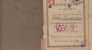 George Loewenstein Passport Page 1
