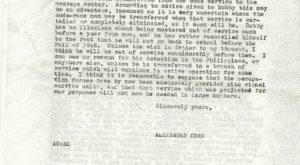 Harriet Conn's father in law's letter pg.2