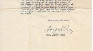 Letter from Mrs. Margit Stern to Herbert