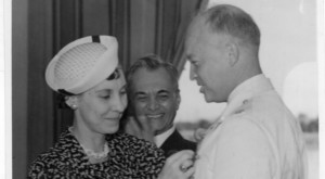 Mamie and Dwight Eisenhower with Quezon Looking On