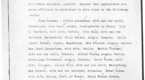 McNutt Approved Names for Visas (October 25, 1938)
